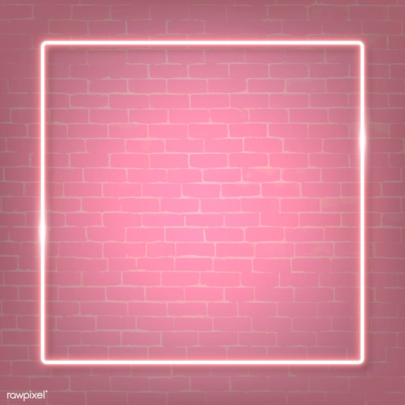Download premium illustration of Square pink neon frame on