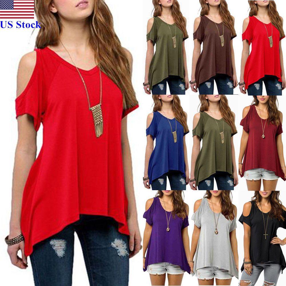 Summer Women/'s Loose T-shirt Short Sleeve Blouse Ladies Casual Tops Tee Shirt