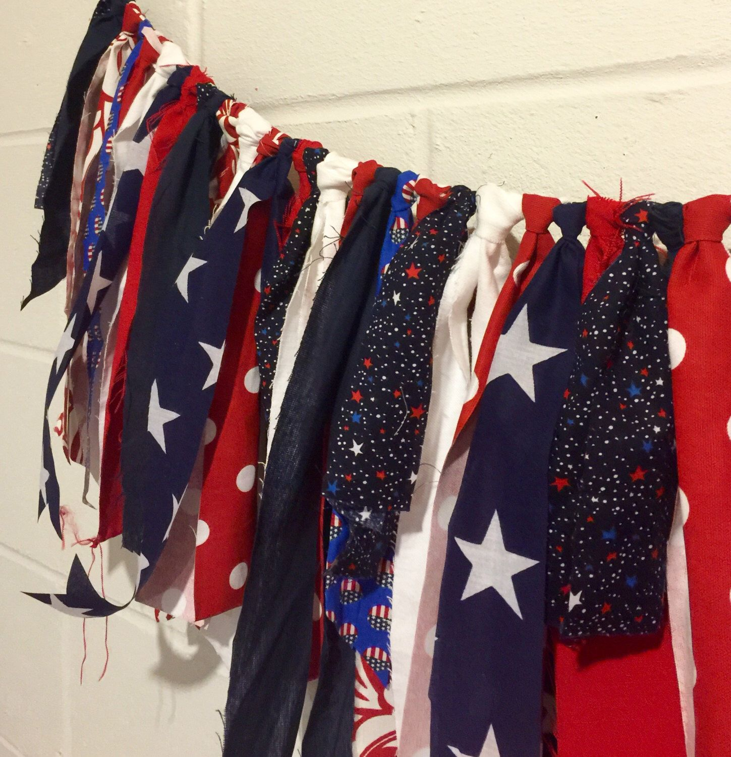 A personal favorite from my Etsy shop https://www.etsy.com/listing/188348229/july-4th-banner-patriotic-fabric-bunting