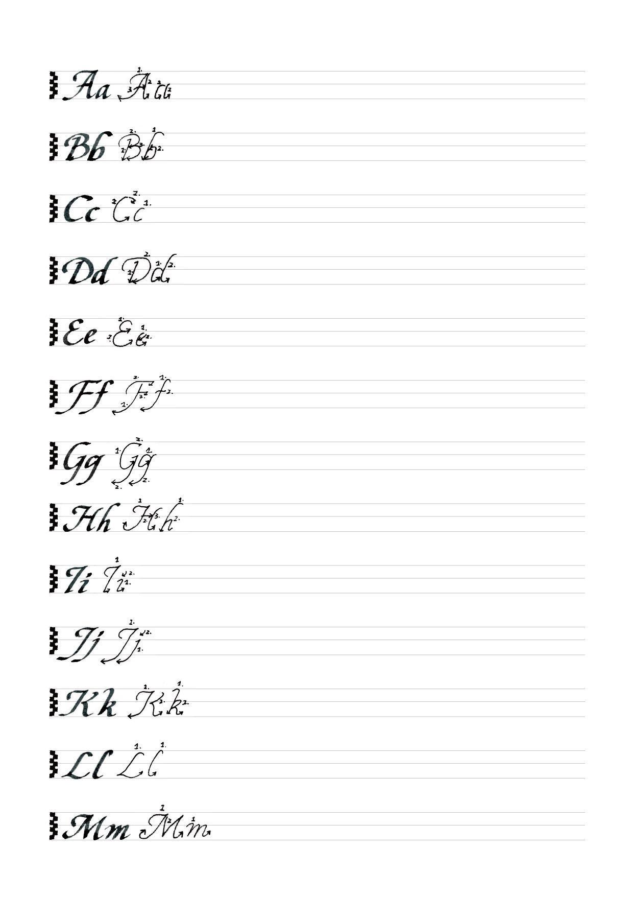 Italic Alphabet Watering76 Tumblr