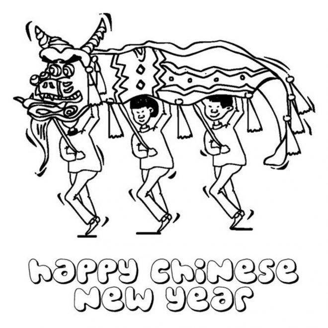 Chinese New Year Colouring Page