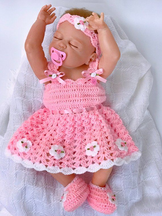 Photo of Baby dress, pink baby dress, Crochet baby dress, baby shower gift, Coming Home outfit, Baby Easter Dress, baby Clothing, Flower girl dress,