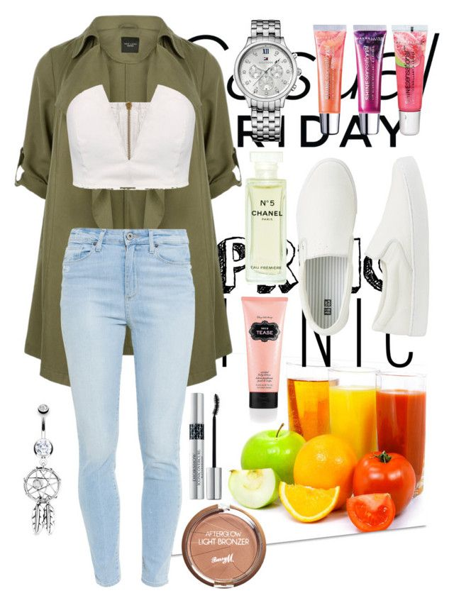 """""""Casual Friday"""" by rowan-na-daw ❤ liked on Polyvore featuring Paige Denim, Bling Jewelry, Tommy Hilfiger, Maybelline, Uniqlo, Victoria's Secret, Barry M, Christian Dior and Chanel"""