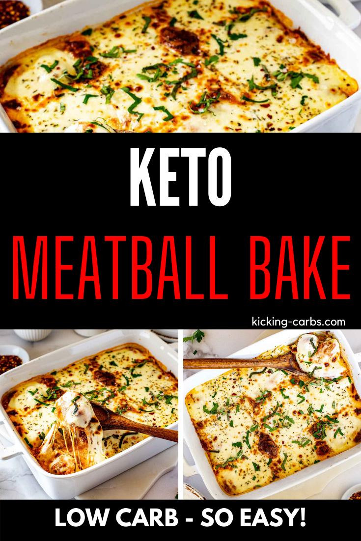 Cheesy Keto Meatball Casserole Low Carb Gluten Free Kicking Carbs Recipe In 2020 Keto Beef Recipes Beef Recipes Low Carb Dinner Recipes