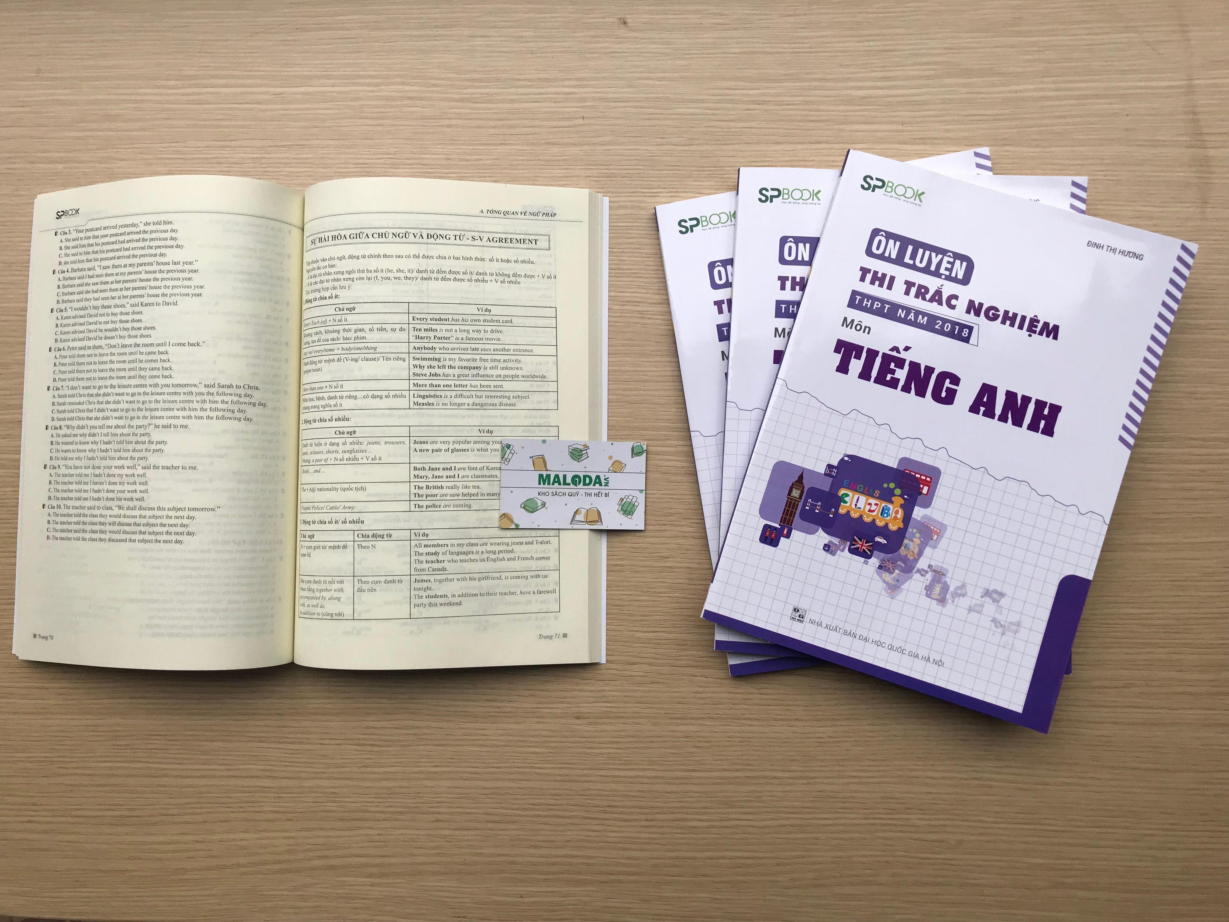 Sách ôn luyện thi Trắc nghiệm THPT Quốc gia 2018 môn tiếng Anh