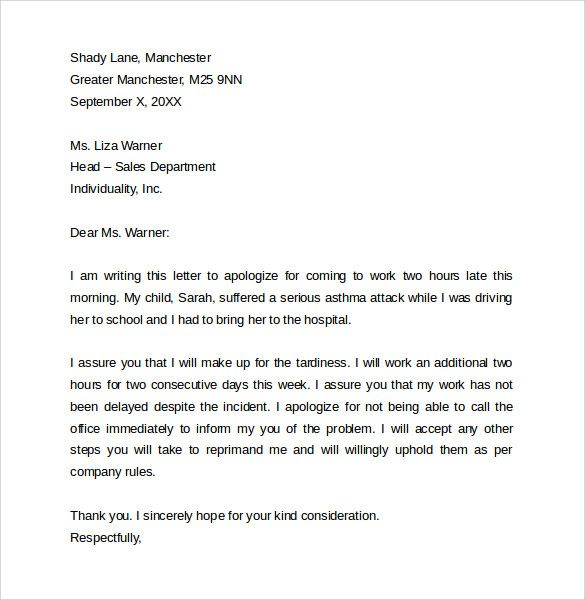 proper letter format free samples examples stanford acceptance - sample apology letter for being late