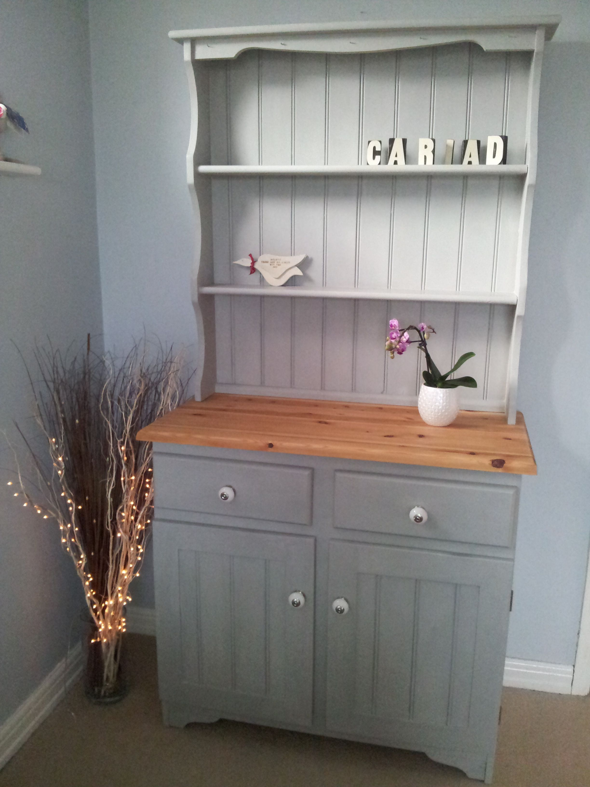 upcycled shabby chic welsh dresser painted in annie sloan. Black Bedroom Furniture Sets. Home Design Ideas