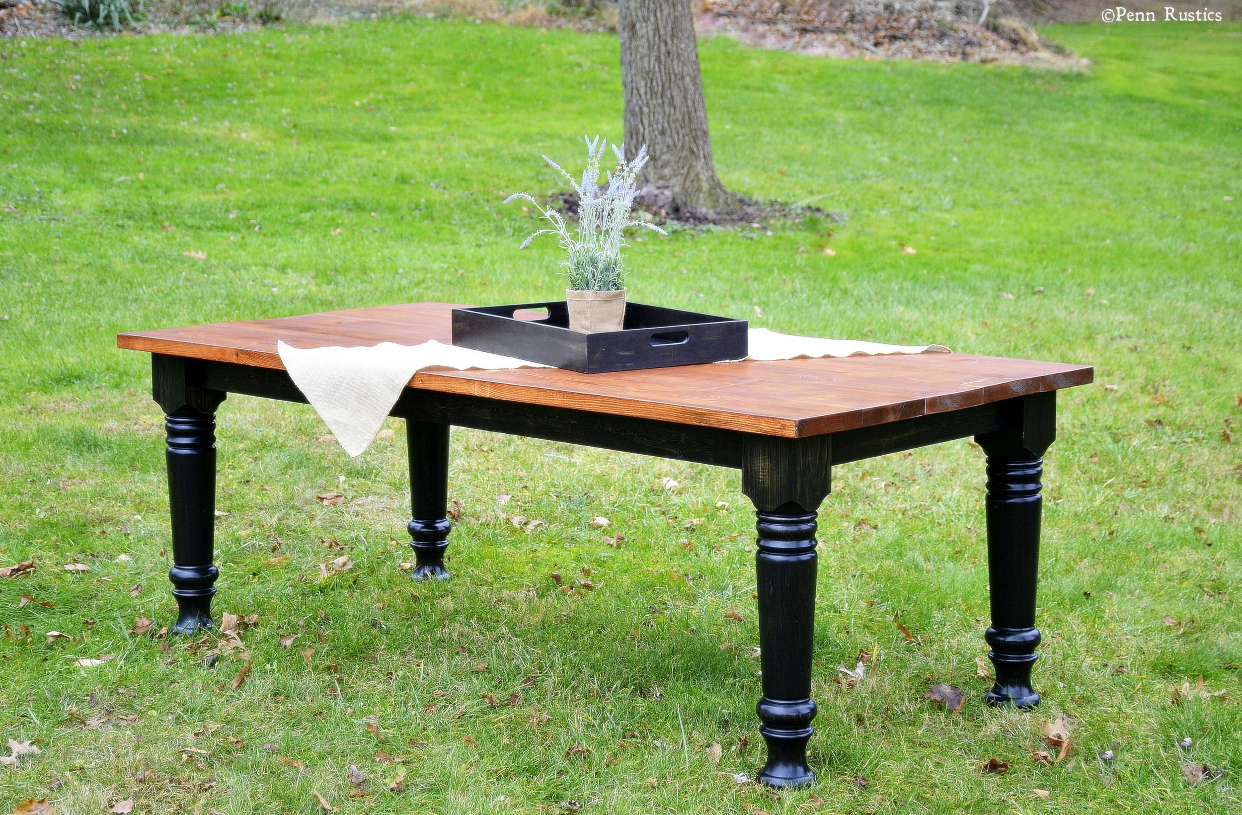 Everyday French Country Rustic Dining Room Table   5 Inch Turned Legs  Http://