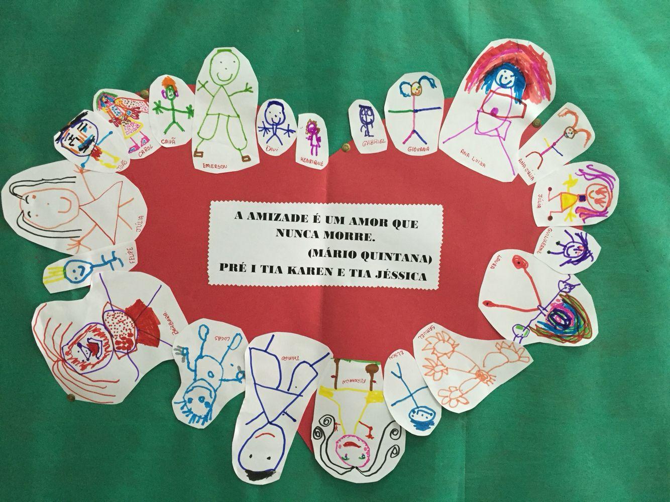 Painel Dia Dos Amigos Dia Do Amigo Atividades Do Dia Das Maes