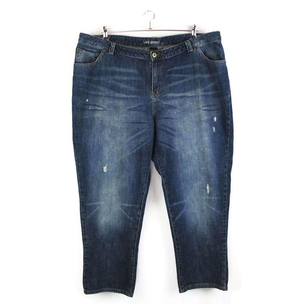 Lane Bryant 28W Distressed Denim Grunge Jeans Plus Size 4X ...