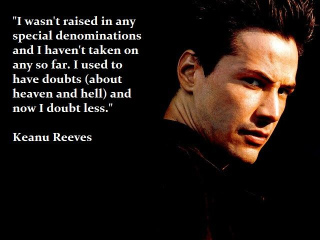 Interesting Observation By Keanu Reeves. I've Found It To