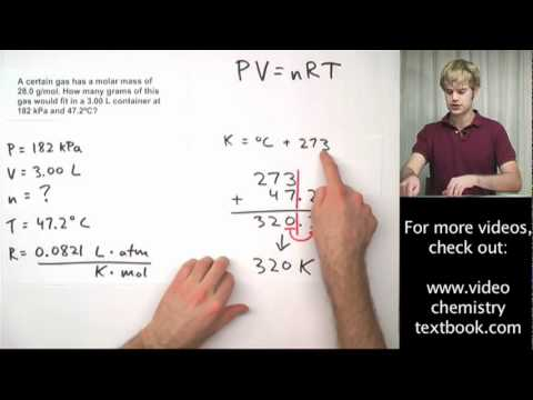 Ideal Gas Law Practice Problems with Molar Mass YouTube