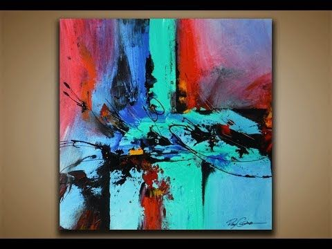 Abstract Painting DEMO 31 Art Blending Acrylics Techniques