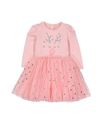 72a8e452a Order a pink reindeer twofer dress today from Mothercare.com ...