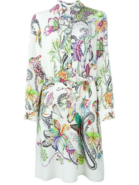 Shop Etro printed shirt dress in Veritas from the world's best independent boutiques at farfetch.com. Shop 400 boutiques at one address.