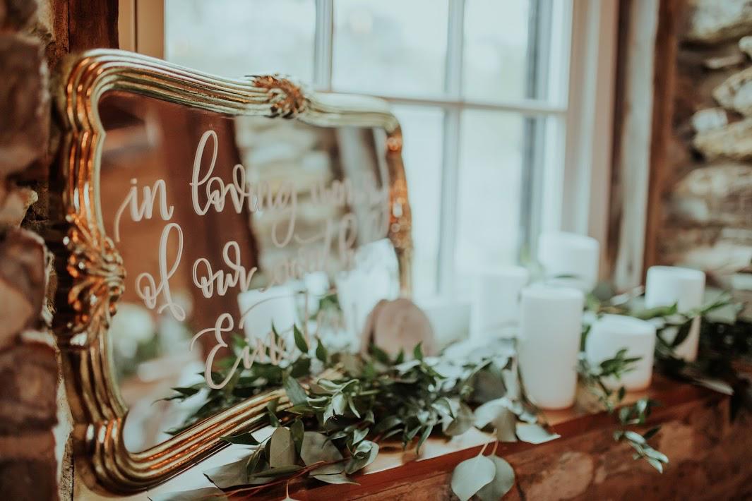 wedding mirror signage wedding signage wedding