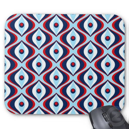 Retro Red, White, & Blue Mousepads