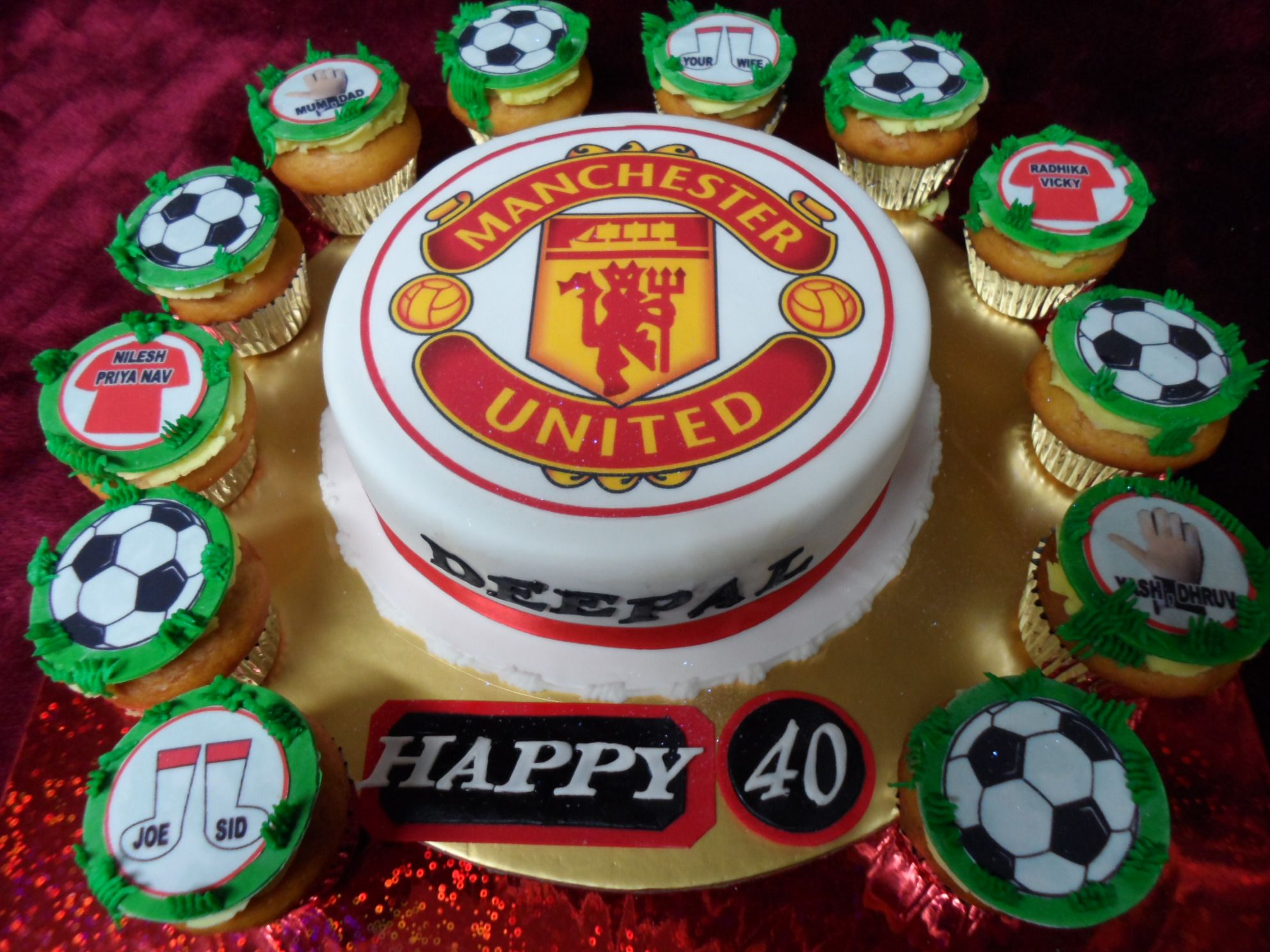 Manchester United themed birthday cake Best Birthday Cakes in