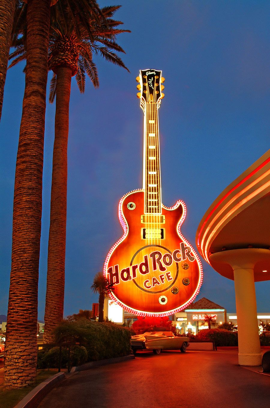 80 feet of neon help us preserve the hard rock caf guitar sign and bring it to the neon museum. Black Bedroom Furniture Sets. Home Design Ideas