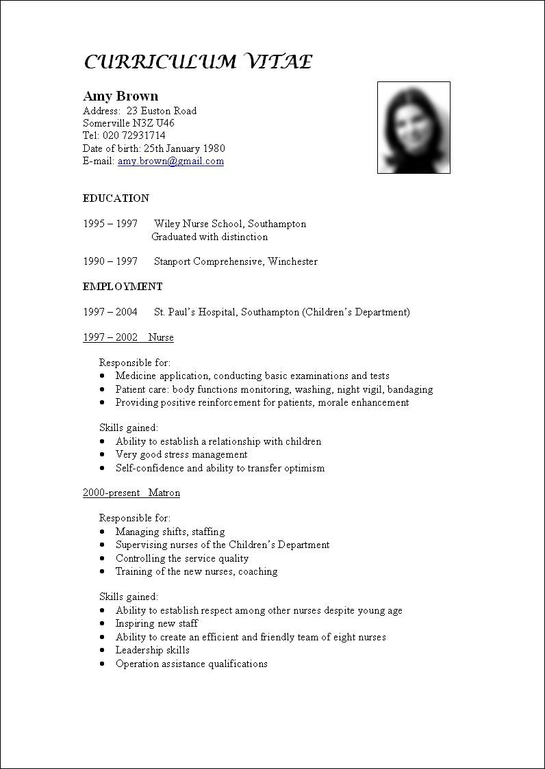 Pin by El balcon de violeta on How to write a CV | Pinterest
