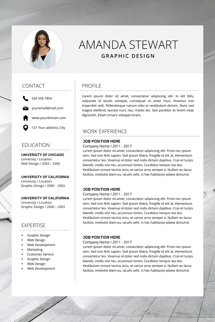 Resume Template Cv Template Professional Resume Resume Template Word Simple Resume Instant Download Photo Teacher Resume Resume Template Professional Resume Template Cv Template Professional