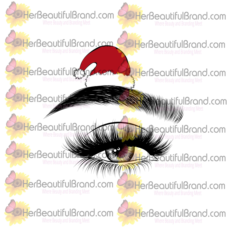 Eyelash Logo Design Christmas Time Holiday Branding