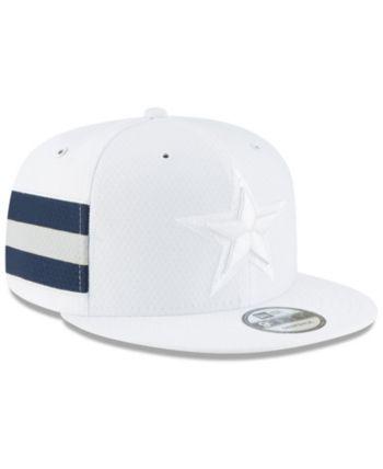 3388fa758 New Era Dallas Cowboys On Field Color Rush 9FIFTY Snapback Cap - White  Adjustable