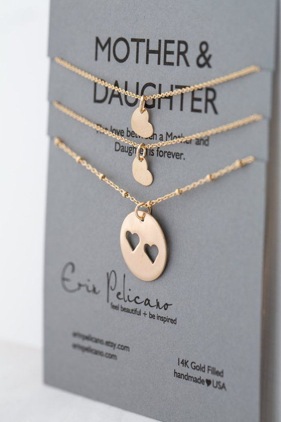 Mother Daughter Necklaces Christmas Gifts For Sisters Gift Mom Of The Bride Birthday