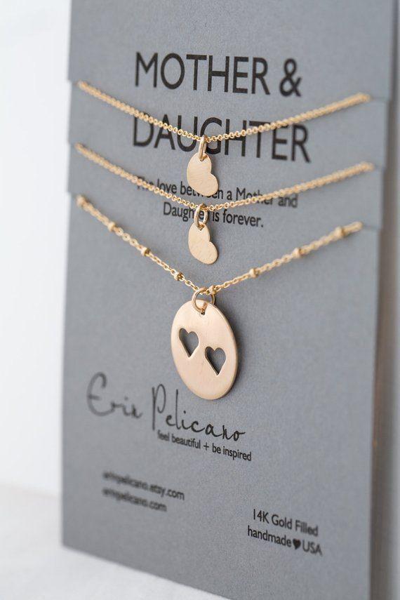 vari colori 70b93 b0b2e Madre figlia regalo gioielli imposta per mamma mamma e ...