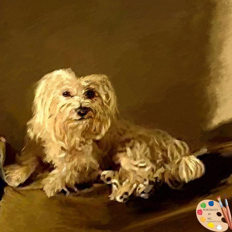Maltese Dog Painting 399 Dog Paintings Maltese Dogs Pet Portrait Painting