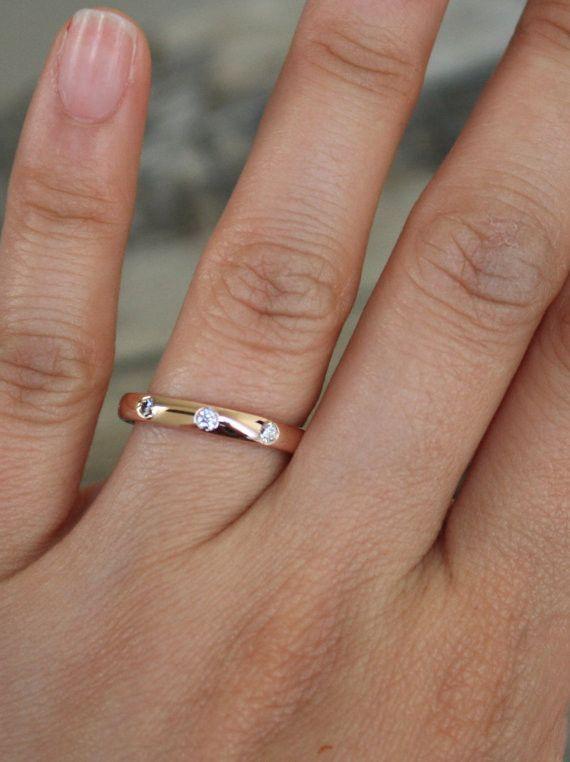c737d6f46c4b2 Diamond Eternity Wedding Band in 14K Rose Gold in 2019 | jewel ...