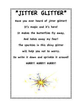 Jitter Glitter Poem Alternative To Jitter Juice Activity Freebie Jitter Glitter Poem Jitter Glitter Poems About School
