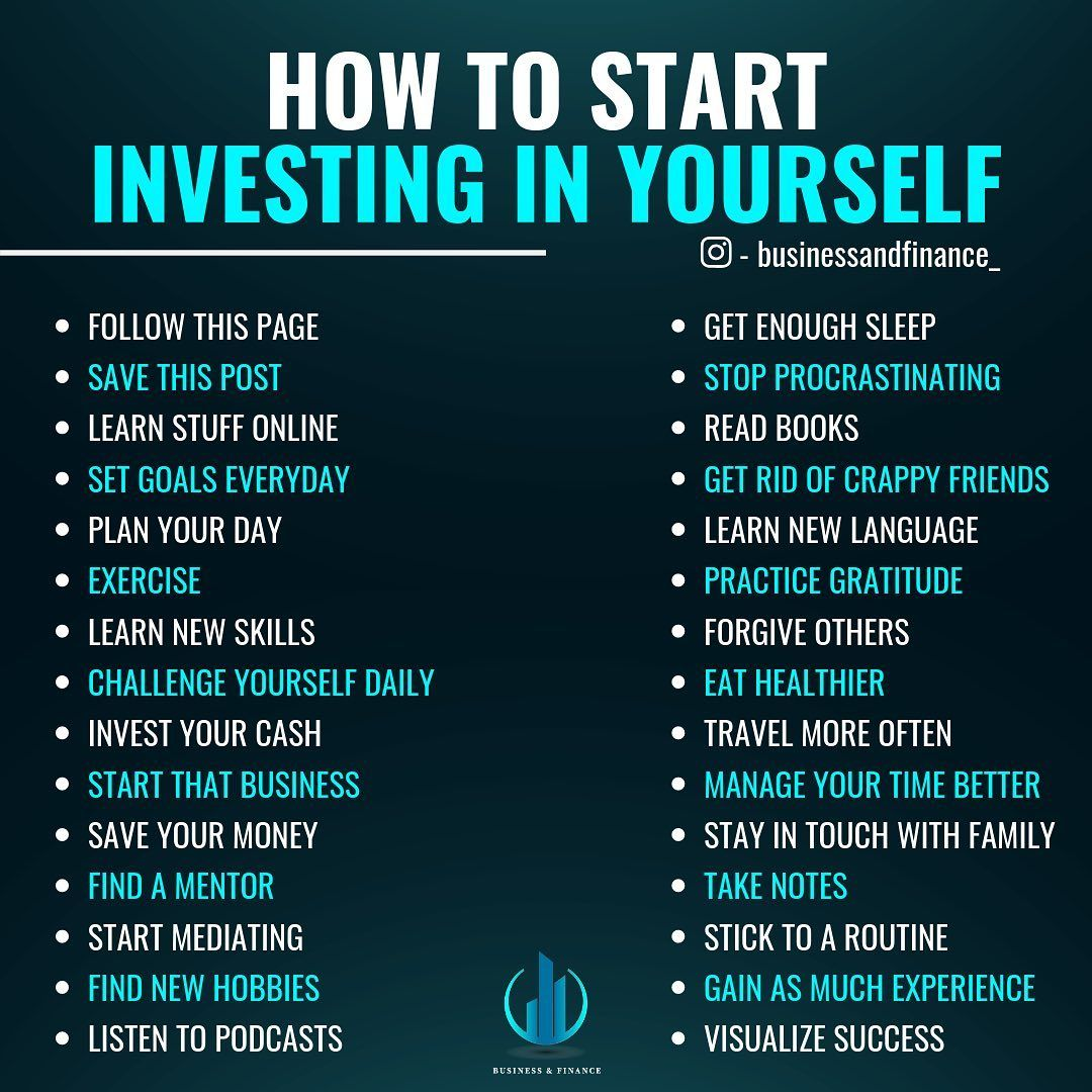 HOW TO INVEST IN YOURSELF? . . Comment down below and let