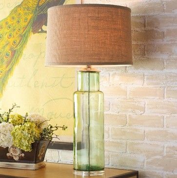 Modern rustic bottle glass table lamp green or aqua lamp shades modern rustic bottle glass table lamp green or aqua lamp shades aloadofball Choice Image