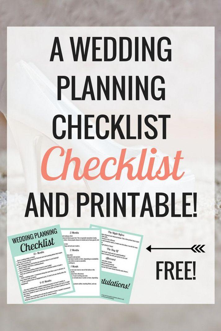 Wedding Checklist Book Free Printable Dresses Online Pinterest Planning And