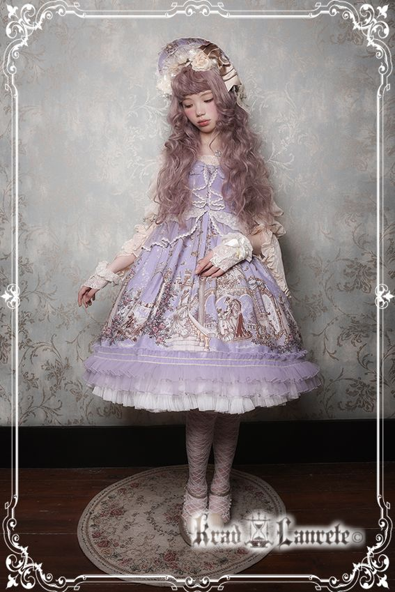 Krad Lanrete -Beauty and the Beast- Lolita Jumper Dress Version I