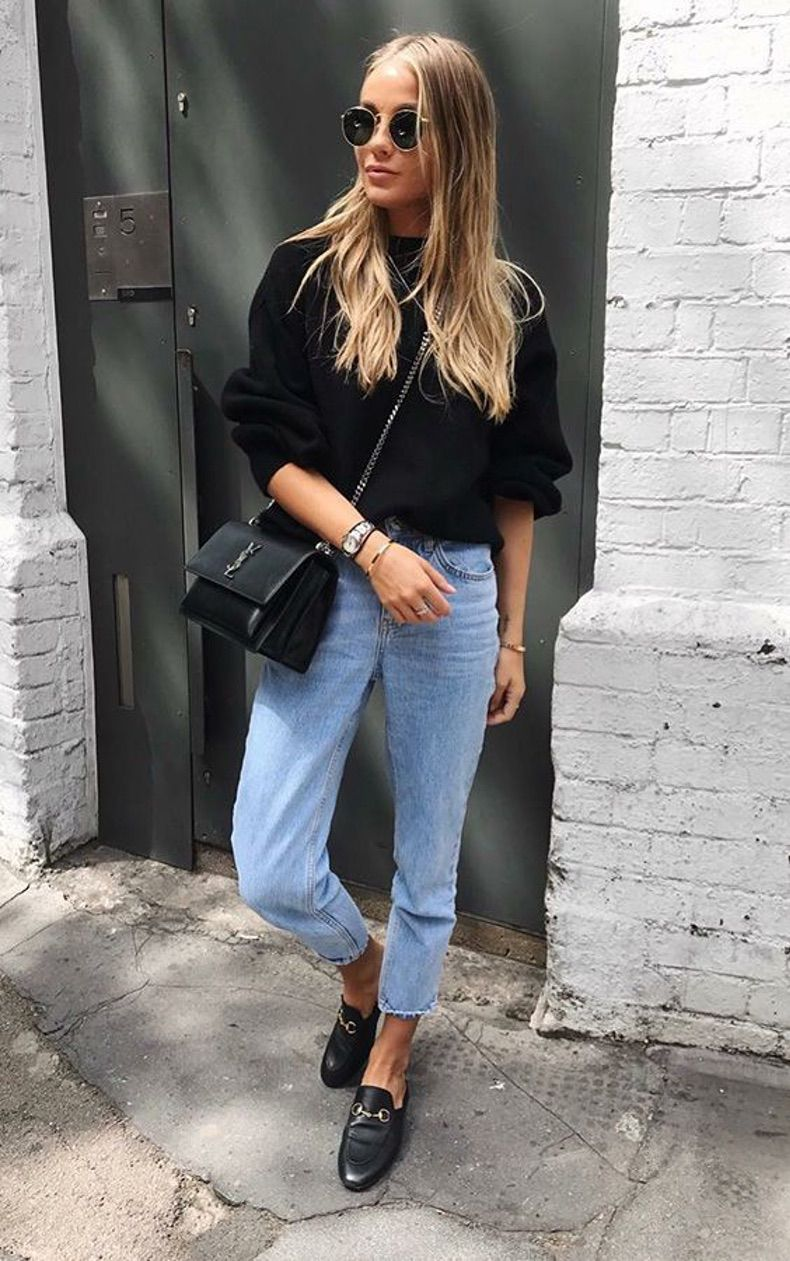 45 Cute Outfits Ideas For Spring with Black Bags | Casual Outfits For Women | Outfits Cute Casual