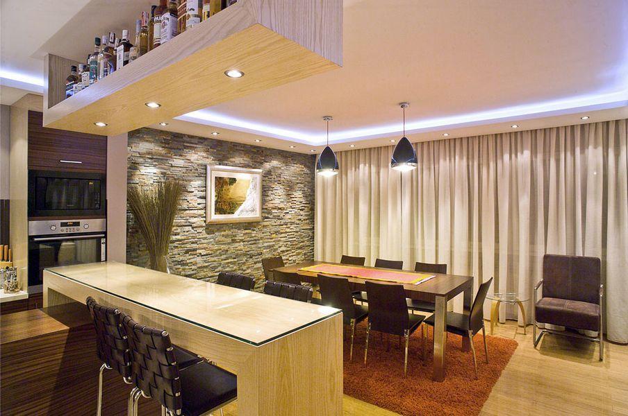 decoración #diseñodeinteriores #interiorismo Zivik; paredes color - decoracion con madera en paredes