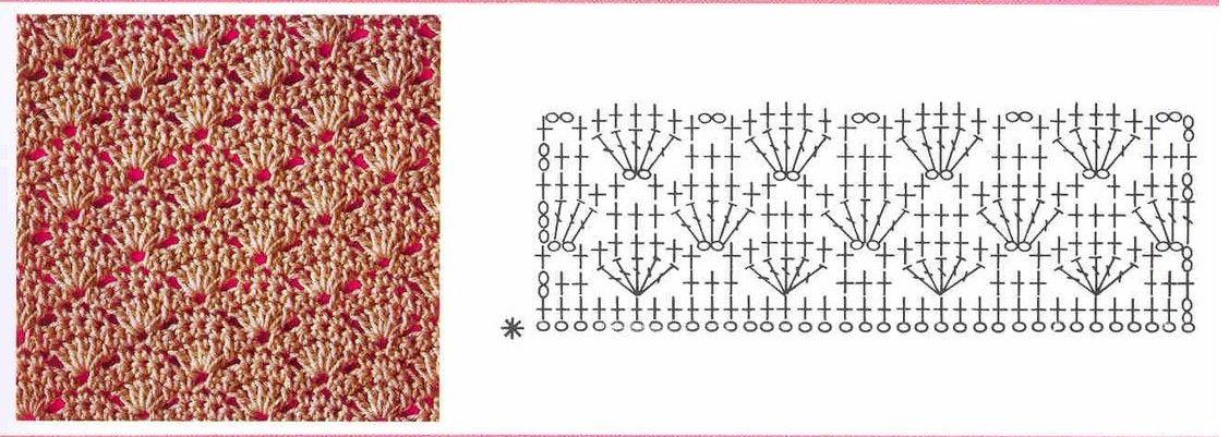 Puntos crochet patrones esquemas muestras - Imagui | Muestras Tricot ...