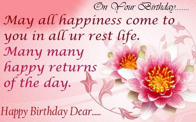Birthday Wishes SMS Happy Birthday Pinterest – Birthday Cards Sms