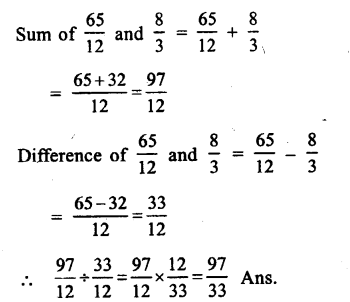 RS Aggarwal Class 8 Solutions Chapter 1 Rational Numbers