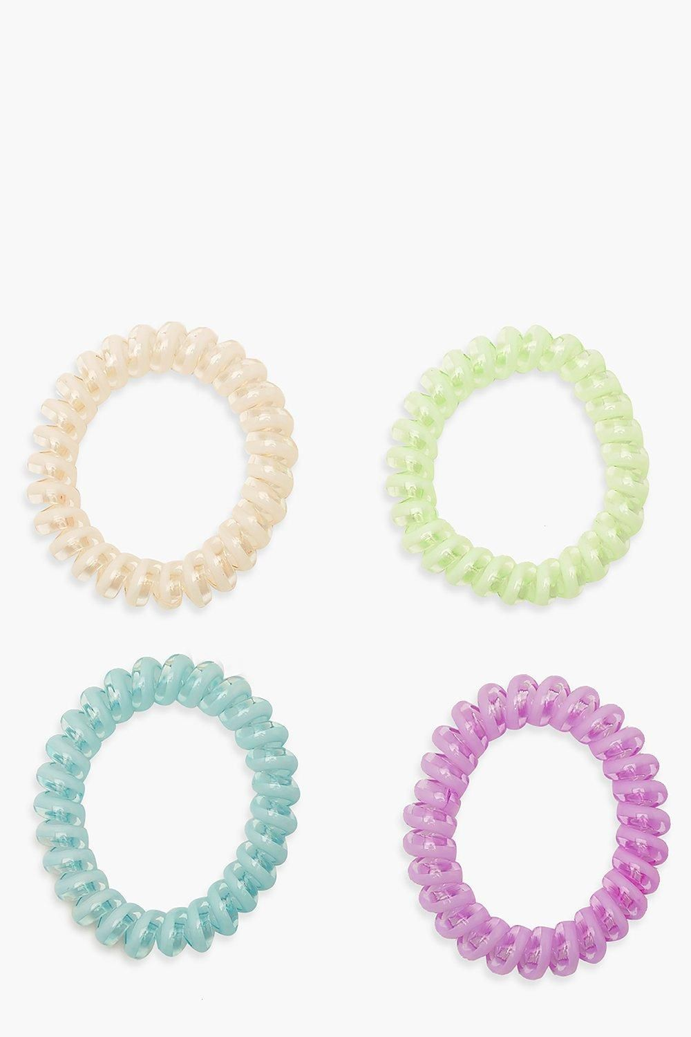 Pastel Coil Elastic Hair Band Bobble 4 Pack #AFF, , #AFFILIATE, #AFF, #Elastic, #Hair, #Pack, #Coil