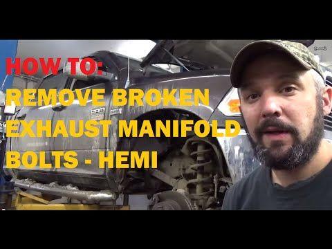 removing broken exhaust manifold bolts