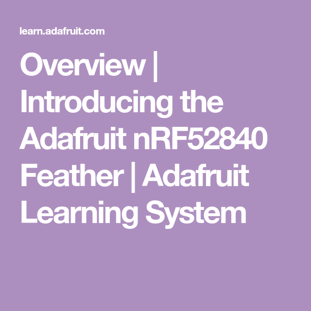 Nrf52840 Adafruit