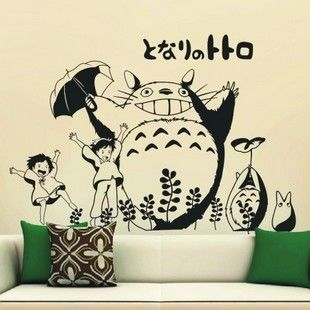 Totoro personalized cartoon wall stickers home decoration