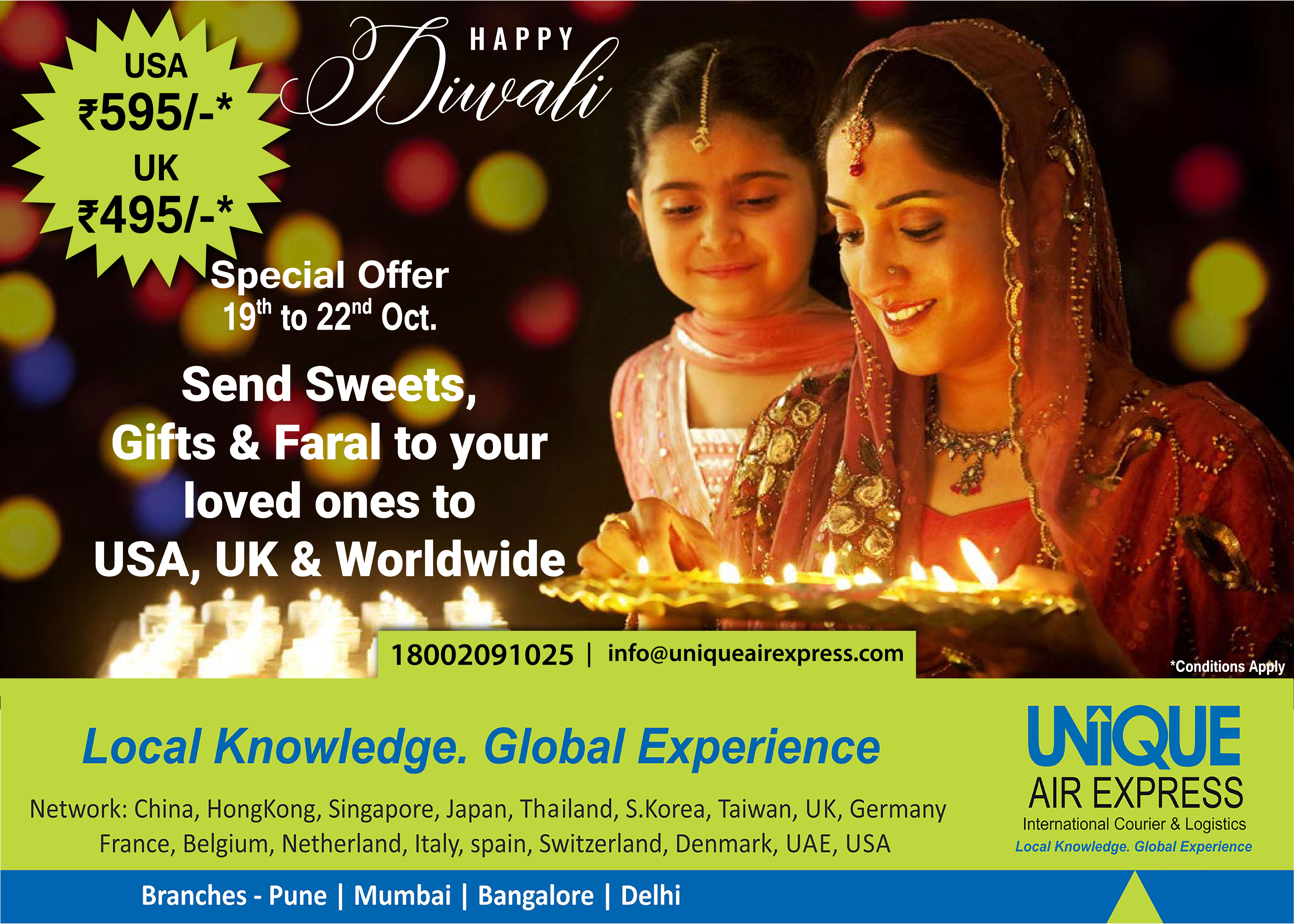 Diwali Booking started! Make sure your parcel reaches USA