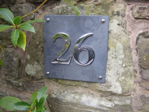 Details About Large Slate Chrome House Number Signs House