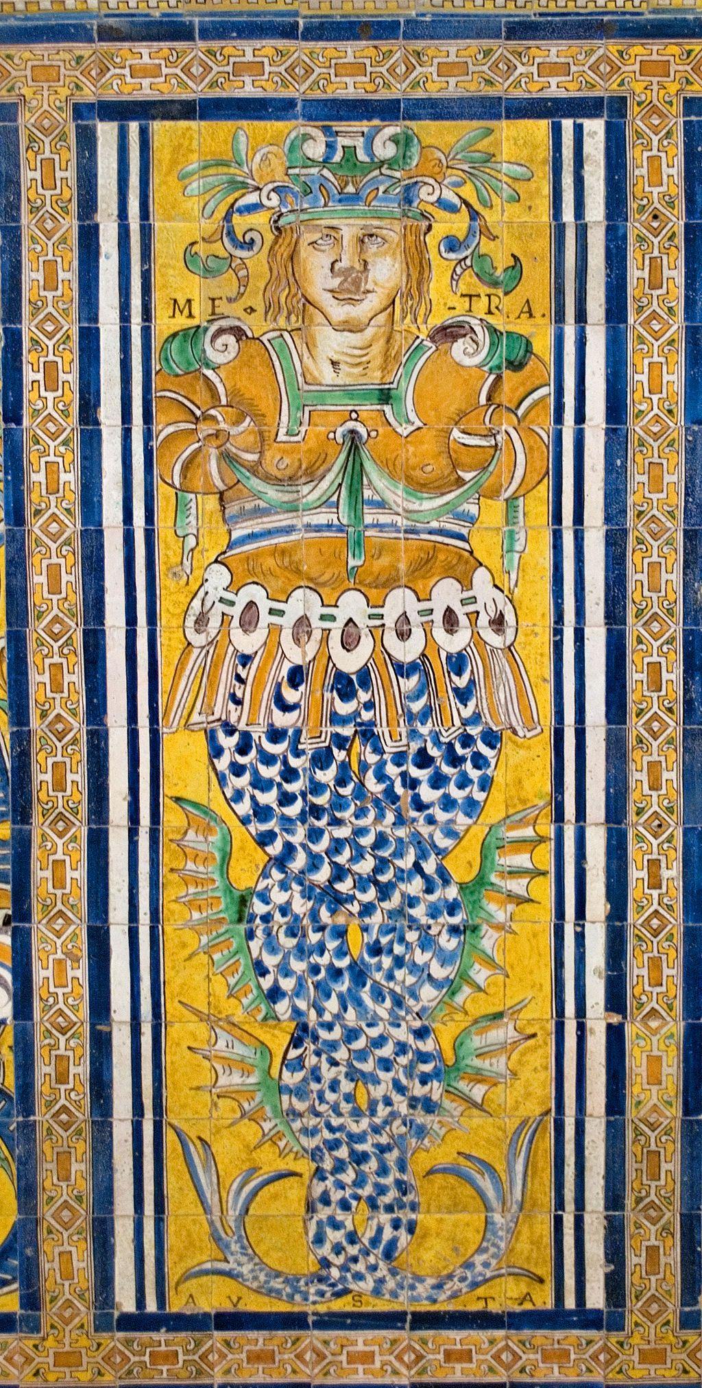 Azulejos en el palacio g tico alc zar de sevilla el for Azulejos antiguos sevilla