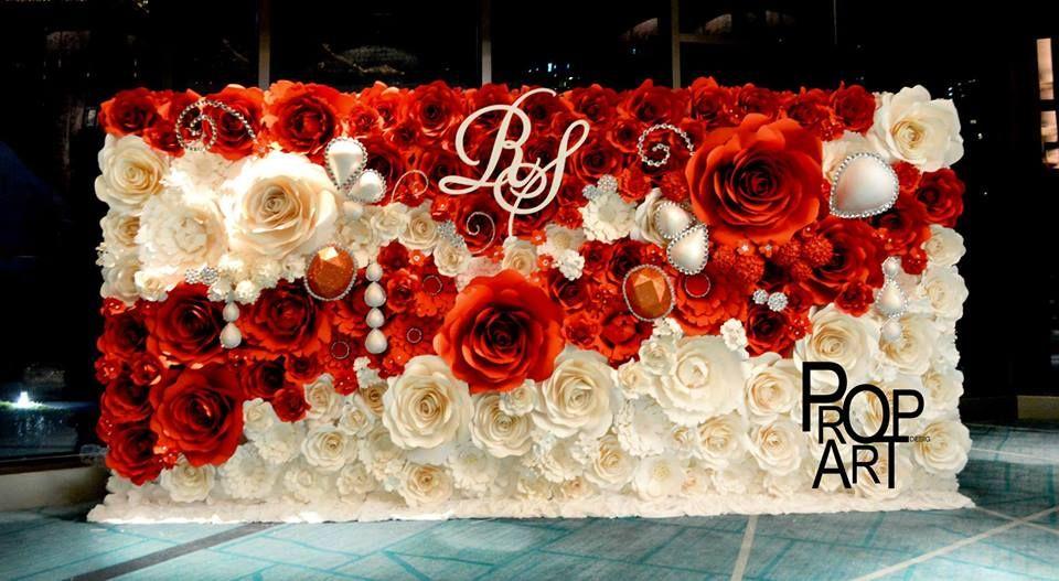 wedding paper flowers wall   wedding ideas   Pinterest   Flowers ...