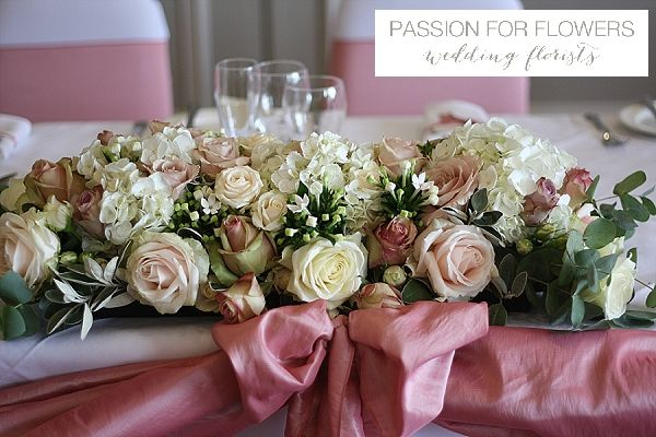 Dusky pink wedding flowers teablush bridal shower baby showers dusky pink top table wedding flowers mightylinksfo